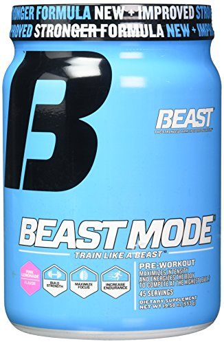 Beast Sports Nutrition, Beast Mode Pre-Workout, Pink Lemonade, 19.5 Ounce
