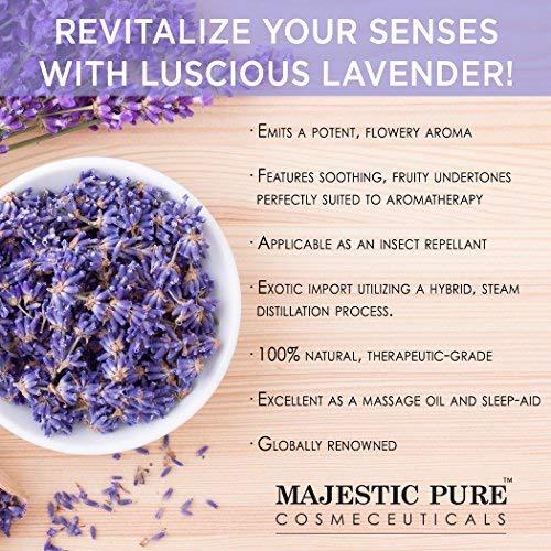 Majestic Pure Lavender Oil Natural Therapeutic Grade Premium Quality Blend of Lavender Essential Oil