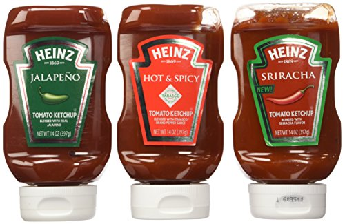 Heinz Spicy Ketchup Lovers Variety Pack: Sriracha, Jalapeno, & Spicy (3 Spicy ()