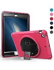 OKZone Funda Compatible con iPad Mini 3 / Mini 2 / Mini 1,Carcasa Rugosa con Soporte Rotativo Asa de Mano, Funda Robusta Antichoque para iPad Mini 3 / Mini 2 / Mini 1 7,9 Pulgadas (Rosa)