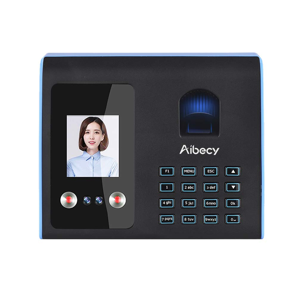 Aibecy Intelligent Attendance Machine Face Fingerprint Password Recognition Mix Biometric Fingerprint Time Clock for Employees Timeclocks for Business by Aibecy