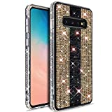 VenSen Glitter Bling Ultra Thin TPU Case for Samsung Galaxy S10 6.1 inch Sparkle Crystal Diamond Full Cover Girl Women Phone Case for GalaxyS10 (Gold)