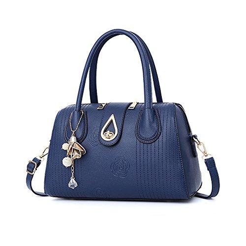 GWQGZ Nuevas Modas Bolsos De Señora Bolso De Hombro Grande Y Generoso. Rosa Blue