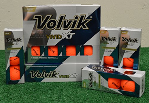 3 Dozen Volvik Vivid XT Matte Orange Golf Balls - New in Box by Volvik