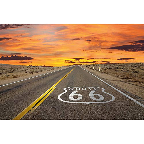 (Great Art Route 66 Photo Wallpaper - American Wall Decoration Highway Poster USA Road Mural (55 Inch x 39.4 Inch))