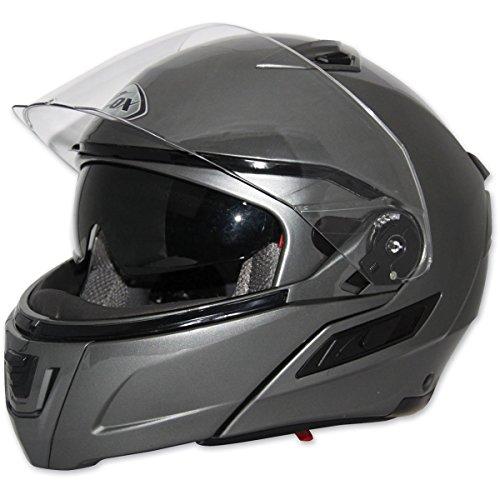 (Zox Condor SVS Solid Men's Street Motorcycle Helmet - Titanium/Large)