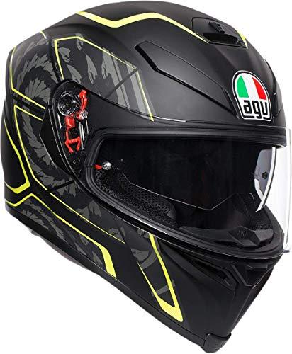 AGV Unisex-Adult Full Face K-5S Tornado Motorcycle Helmet Fluo Yellow Medium/Large ()