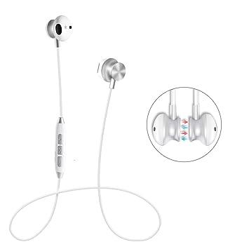 Auriculares inalámbricos, Stanbow Auriculares magnéticos Bluetooth Cancelación de ruido Auriculares estéreo a prueba de sudor con micrófono para iPhone X ...