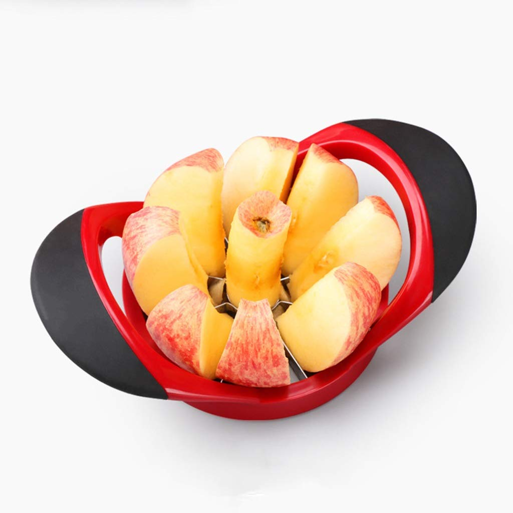 Slicer Knife Sharp, Stainless Steel Blades - Ergonomic, Cushioned Handles Simply Place On Top Of Apple And Push Down Make Lunch Box Snacks In Seconds