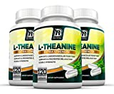 BRI Nutrition 200mg L-Theanine Enhanced with 100 mg of Inositol - 120 Count 200mg L Theanine Veggie Capsules - 3-Pack