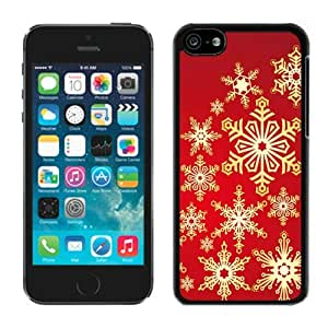 Custom Iphone 5C TPU Case Christmas Snowflake Black iPhone 5C Case 5