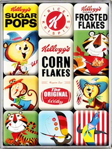 Kelloggs Characters set of 9 Mini Fridge Magnets in box (na)