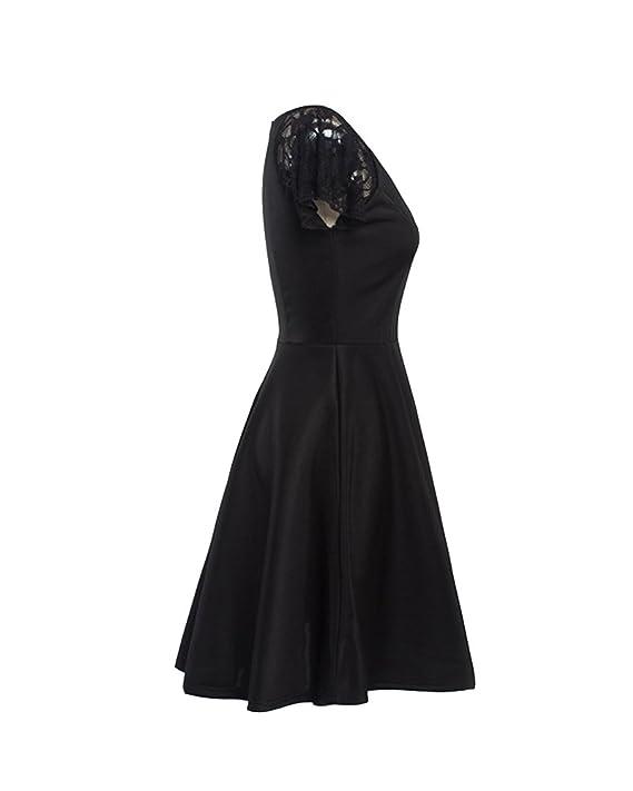Vestido De Fiesta Para Mujer Vestido Años 50 Elegantes V Cuello Vestidos De Noche Encaje Vestido Coctel: Amazon.es: Deportes y aire libre