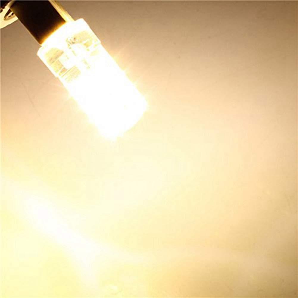 Color : Blanco c/álido Bulbo llevado del ma/íz 10pcs No Dimmble G4 LED Bombilla L/ámpara 4W LED Bombillas 280LM AC12V DC 12V-24V Reemplazo de /ángulo de haz de 360 grados de hal/ógeno de 30W