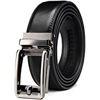 Men's Belt, Bulliant Genuine Leather Ratchet Belt for men with Click Buckle, Trim to Exact Fit,Big&Tall