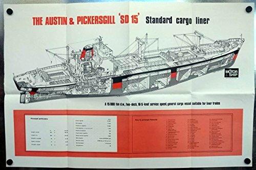 Austin & Pickersgill SD 15 Standard Cargo Liner cutaway view poster 1970 SD15 (Liner Cargo Standard)