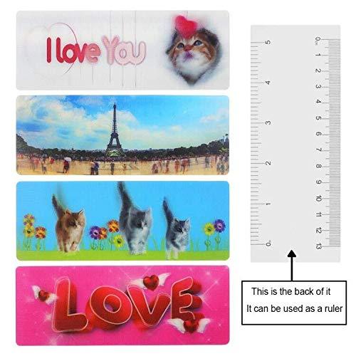 Cool Bookmarks for Men 3D Bookmark Kids 4 pcs -