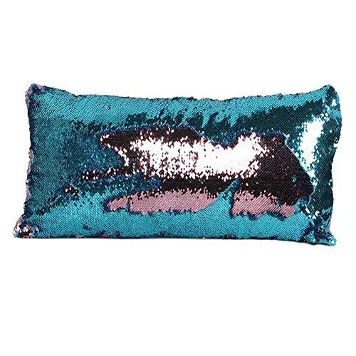 2017 Magic Reversible Bling Sequin Mermaid Glitter Letter Pillow Case - Pillow Case (Basic Bling Grey)
