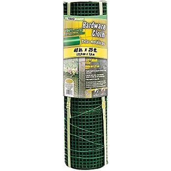 YARDGARD 308260B 1/2 Inch Mesh, 48 Inch by 25 Foot 19 Gauge Green PVC Coated Hardware Cloth