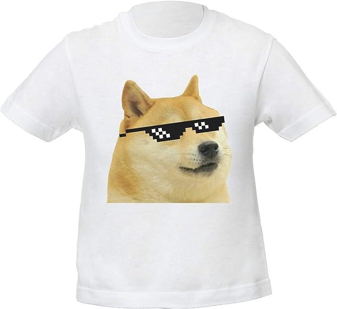 Doge Shiba Inu Funny Swag Meme Niños Unisexo Niño Niña Camiseta Blanco | Kids Unisex Boys Girls White T-Shirt Tshirt T Shirt: Amazon.es: Ropa y accesorios