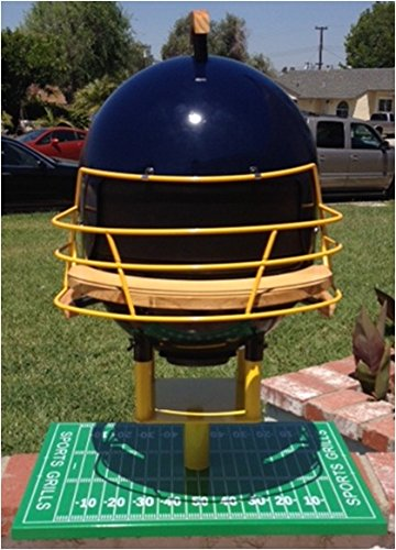 Sports Grills Touch Down 3000 Portable Charcoal BBQ44; Blue & Yellow by Sports Grills