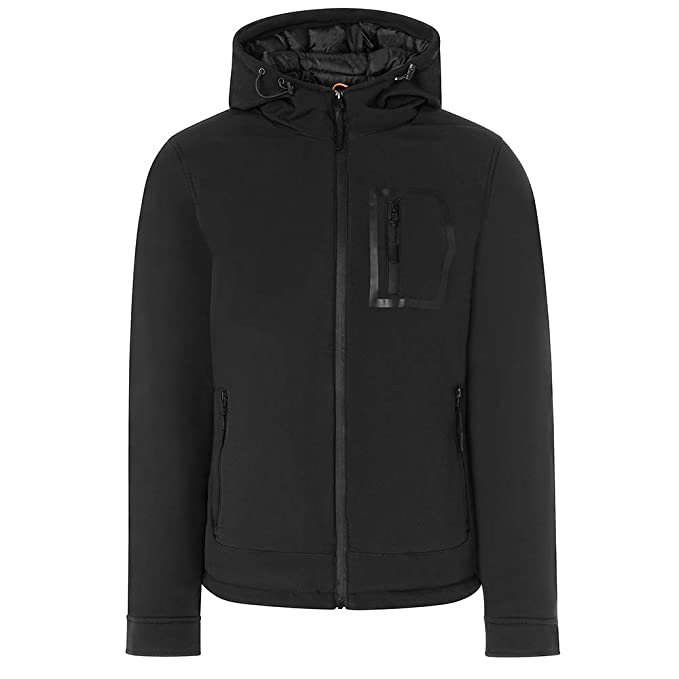 Chaqueta Hombre TWIG Blizzard Jacket L303 Abrigo Acolchado Capucha Black (L)