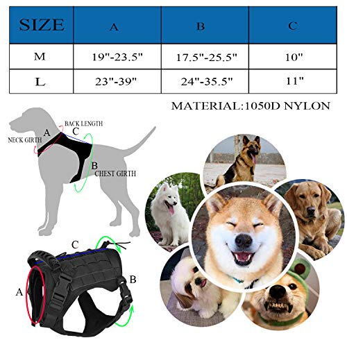 Tactical-Service-Dog-Vest-Harness-Outdoor-Training-Handle-Water-Resistant-Comfortable-Military-Patrol-K9-Dog-Harness-with-Handle