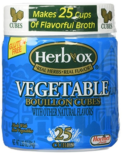 Herb-Ox Vegetable Bouillon Cubes 3.33oz (25 (Veggie Bouillon Cubes)