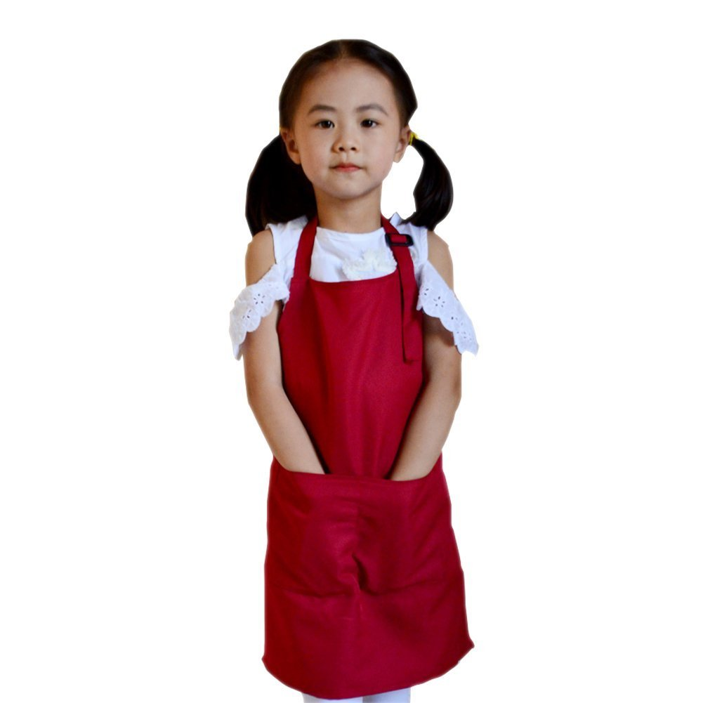 Bluelans® Childrens Kids Play Apron with Pockets - Painting, Baking, Cooking, Crafting - Adjustable Neck Strap