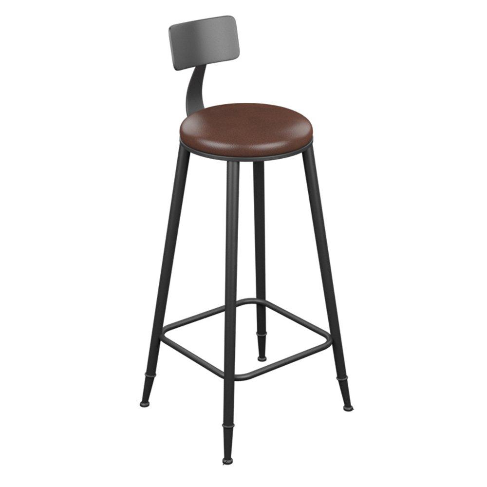 404099cm Bar Stool - Vintage Leather Wrought Iron Bar Stool Bar Simple Stool (Multiple (Size   40  40  71cm)