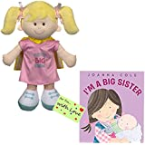Big Sister Gift Set for Little Girls and Toddlers, Super Big Sister Doll with Cape and I am a Big Sister Book by Joanna Cole Bundle with Gift Tag (Super Sister / Cole / Gift Tag)