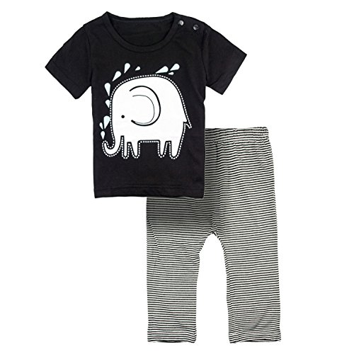 Big-Elephant-2-Pieces-Baby-Boys-Short-Sleeve-Striped-Elephant-Shirt-Pants-E42