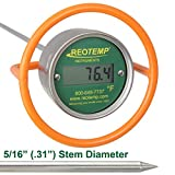 REOTEMP Heavy Duty Digital Compost Thermometer - Fahrenheit (48 Inch Stem)