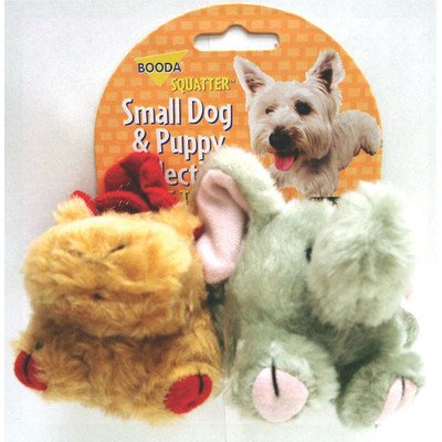 Booda 0353595 Moose & Elephant Squatter Small Dog Toy 2 Pack (Toy Dog Booda)