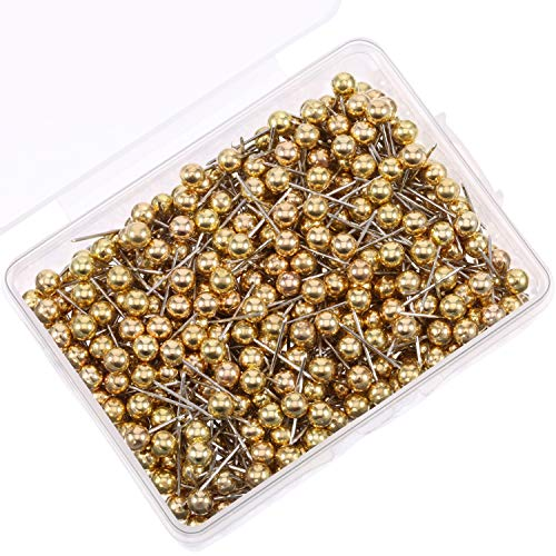 ns Map Tacks 1/8 Inch Small Size (Gold) ()