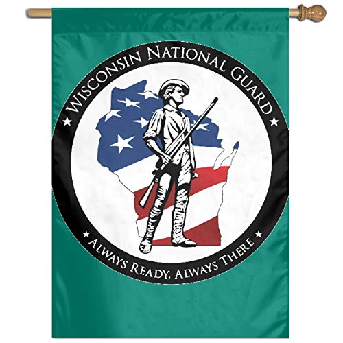 (WWCKXFGQZ Wisconsin National Guard Garden Flag 27 X 37 Inch Size Banner for Party Home Outdoor Decor)
