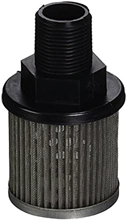 P3 1//4 100 Suction Strainer with Nylon Connector End Inc Flow Ezy Filters 3 GPM 100 Mesh Size 1//4 Female NPT
