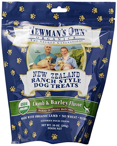 Newman's Own Organics Lamb & Barley New Zealand Ranch Style Dog Treats, 10-Ounce (Pack of 6)