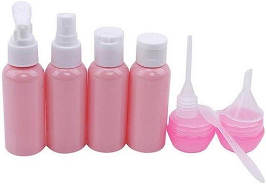 WARMWORD Botella de Viaje 6 Pack la Botella de Viaje de Silicona a Prueba de Fugas para champús, lociones y artículos de tocador, FDA Certified BPA Free, Reutilizable: Amazon.es: Hogar