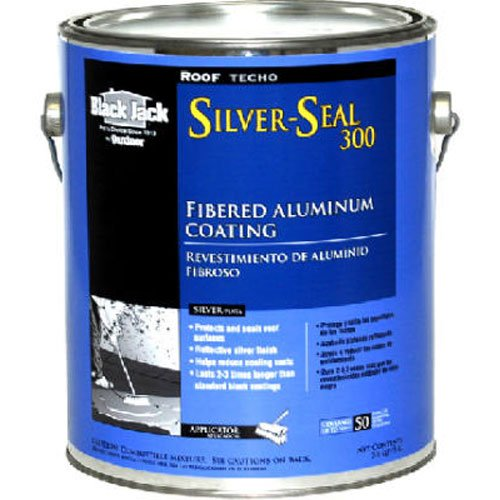 GARDNER-GIBSON 5175-A-34 Black Jack 3.6 quart Silver Seal 300 Fibered Aluminium Roof Coating by Gardner-Gibson