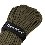 TITAN WarriorCord | OLIVE-DRAB | 103 CONTINUOUS FEET | Exceeds Authentic MIL-C-5040, Type III 550 Paracord Standards. 7 Strand, 5/32'' (4mm) Diameter, Military Parachute Cord.