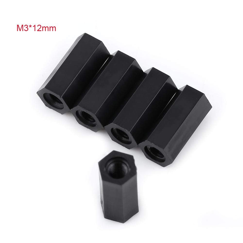 M3*25 Akozon 250pcs Standoff M2 M3 Tornillo y Tuercas Maletero Separador Negro Nylon Hexagonal Separadores Surtido Nuts Conjunto Con Caja De Pl/ástico
