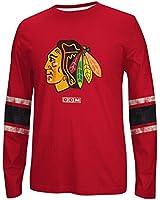 NHL Chicago Blackhawks Men's Long Sleeve Logo Crew Tee