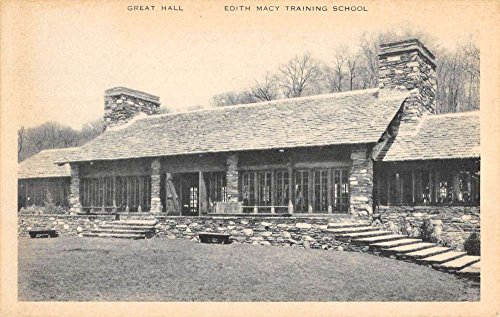 Briarcliff Manor New York Edith Macy Training School Great Hall Postcard - Macys Md