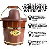 Nostalgia Electric Bucket Ice Cream Maker With