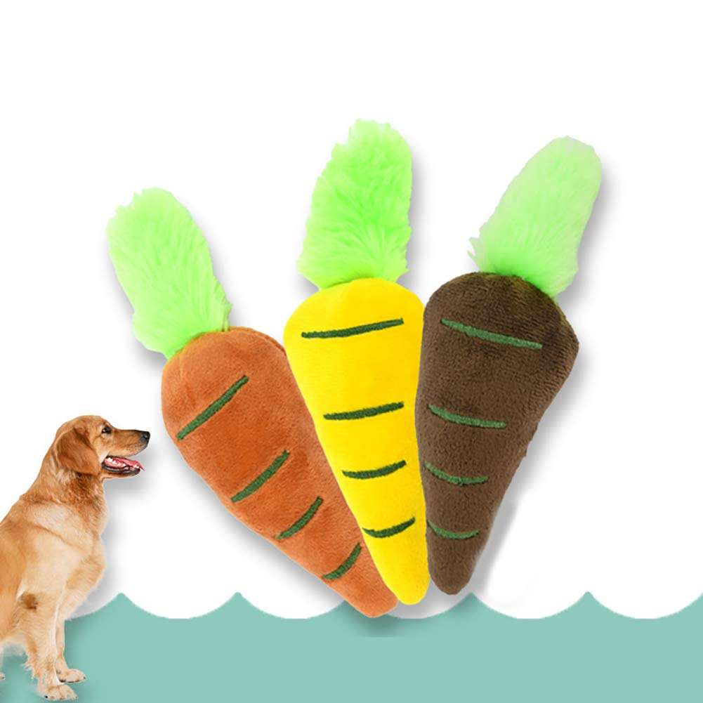 Mascota Cachorro de Perro Suave Felpa Zanahoria chirrido Dientes de Sonido Limpio Masticar dentici/ón Juguete Naranja Astrryfarion Juguete para Masticar Perros
