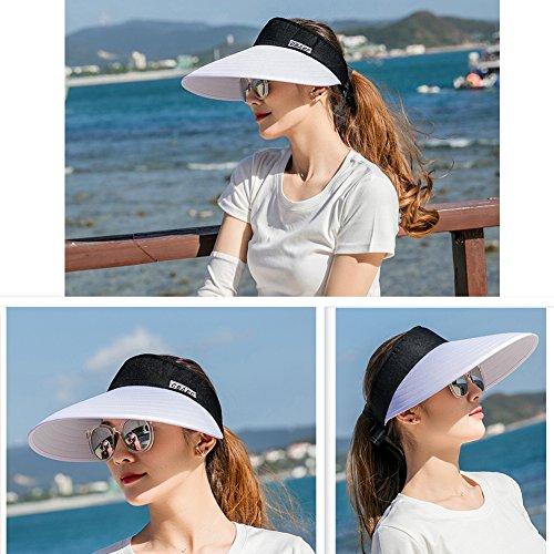 Sun Visor Hats Women 5.5'' Large Brim Summer UV Protection Beach Cap by CAMOLAND (Image #7)
