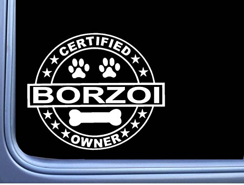 Certified Borzoi L327 Dog Sticker 6