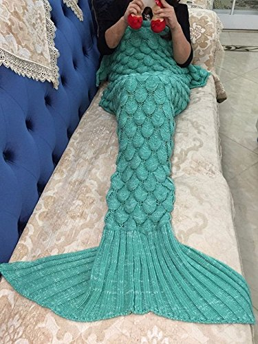 - Mermaid Blanket | Mermaid Tail Wool for Sofa Cover Trend for Adult Children | Relax Sleeping Nap Colorful Blankets