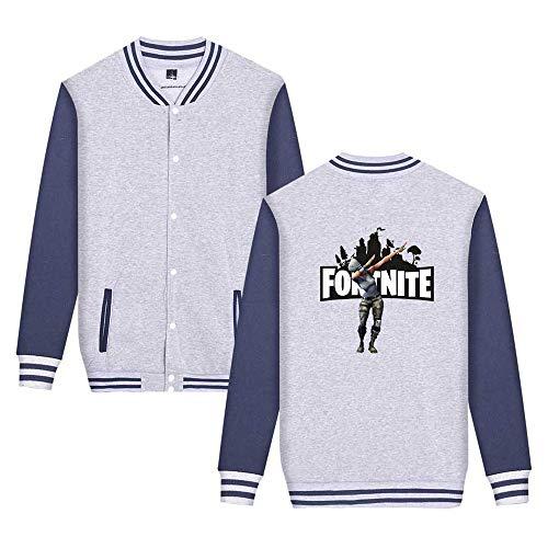 Unisex Da Fortnite Leggera Stampate Moda Unicorno Comode Giacca Grey6 Semplice Sweatshirts Baseball Aivosen Casual xqSdXaq